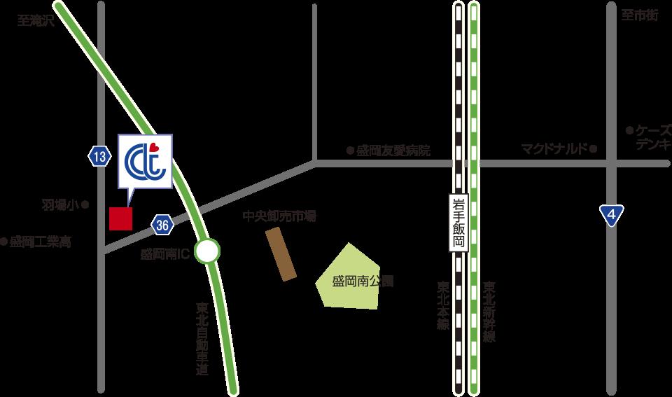 株式会社ケア・テック本社 ショールーム 地図